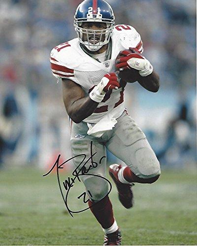 Autographed Tiki Barber Photo - #21 RB- (10 449 YDS 3 Time Pro Bowler 8x10 Color - Autographed NFL Photos