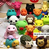Funny Puzzle Animals Pencil Erasers Puzzle Toys Novelty Erasers Party Favors Games Prizes Gift School Supplies,Pack of 30