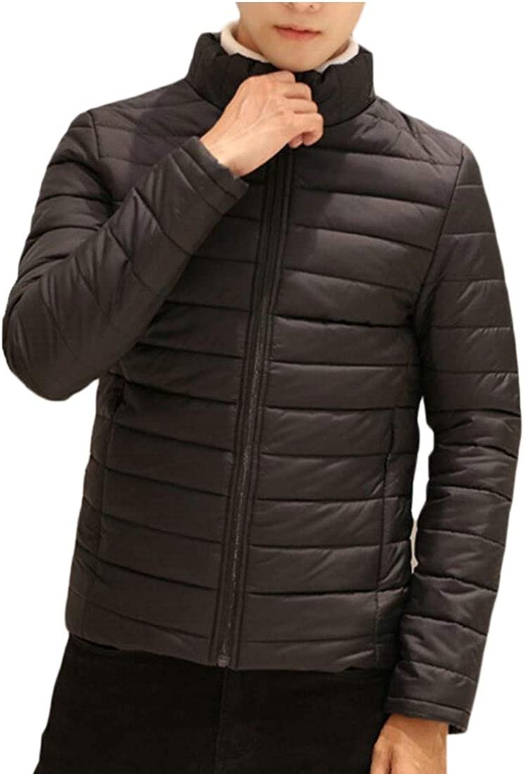 XQS Mens Down Jackets Stand Collar Outwear Down Coats