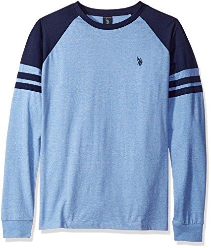 U.S. Polo Assn. Mens Long Raglan Sleeve Color Block Knit Shirt