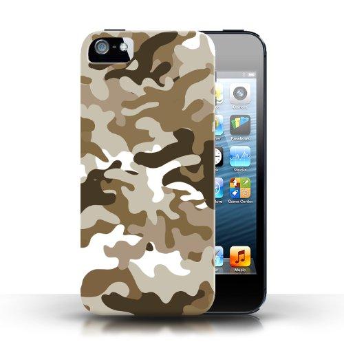 iCHOOSE Print Motif Coque de protection Case / Plastique manchon de telephone Coque pour Apple iPhone 5/5S / Collection Armée/Marine militaire/Camouflage / Marron 1