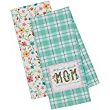 Thank You Mom Garden Dish Towel Set of 2