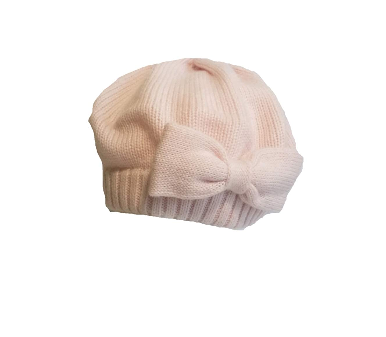 Kate Spade Gathered Bow Beret, Pastry Pink