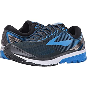 Brooks Men's Ghost 10 Ebony/Metallic Charcoal/Electric Brooks Blue Shoe