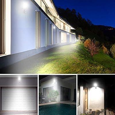 FLOODOOR Motion Sensor Light 50W 12-24V AC/DC Outdoor Flood Light, Daylight White, 6000K, 4500LM, IP66 Safety Waterproof Security Outdoor Light for Garage, Street and Garden(2 Pack)
