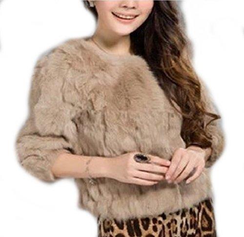 L mezza manica Rabbit Galia Jacket Short Fur Orange Rabbit taglia 01F18xw