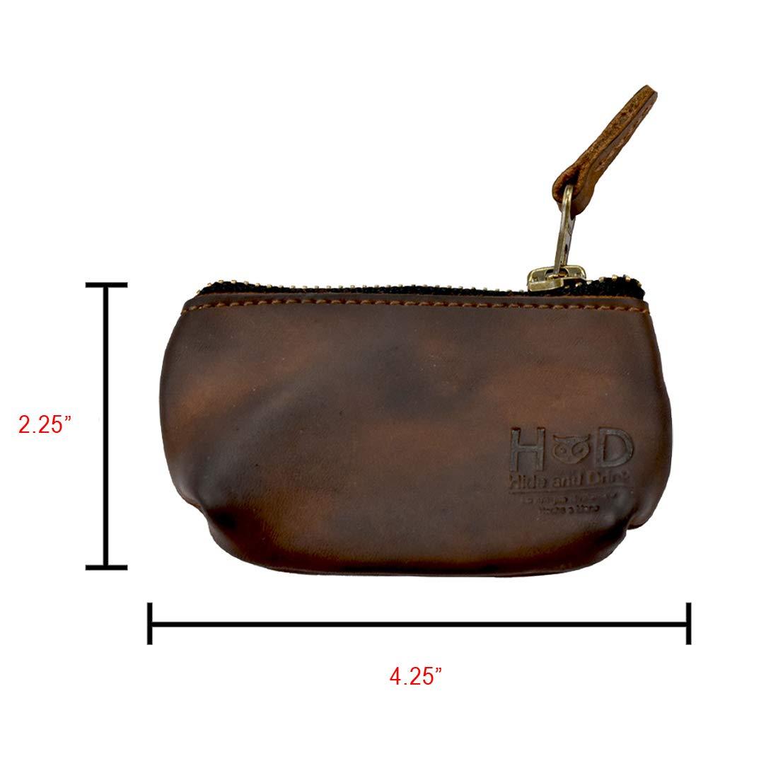 Secret Stash Handmade Includes 101 Year Warranty Bourbon Brown Hide /& Drink Rustic Leather Tampon Case//Condom Holder Pouch