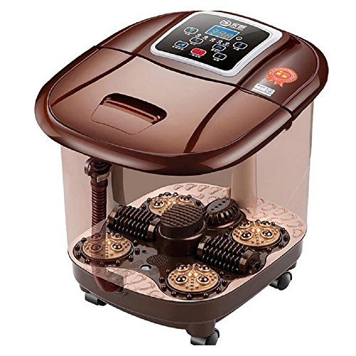 WE&ZHE Foot Bath Automatic Massage Footbath Electric Heating Foot Fully-Automatic Heated Electric Footbath Massage Pediluvium Bucket Footbath SPA by WE&ZHE