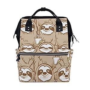 Ahomy Baby Changing Bag Backpack, Sloth Mummy Nappy Diaper Bag Baby Travel Backpack
