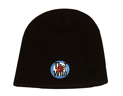 774694771a4 The Who - Target Logo Beanie Hat  Amazon.co.uk  Clothing