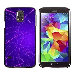 Paccase / SLIM PC / Aliminium Casa Carcasa Funda Case Cover - Purple Lines Rave Glow Stick - Samsung Galaxy S5 SM-G900