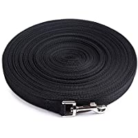AuapTavw Dog Leash,Strong Durable Nylon Pet Dog Training Leash, Traction Rope,3/4 Inch Wide, Large,Medium Small Dogs,Long Lead,Great Training, Play, Camping Backyard (50 Feet, Black)