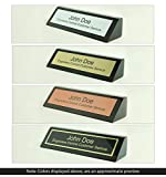 Engravers Central Personalized Wooden Executive Business Office Desk Name Plate - Black Piano Finish - CUSTOMIZE - (2x8)