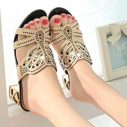 Sandals slipper Nero beach s sandals Sandali women estivi cm frozen in vintage strass 3 donna 6 sandali 70 UOMOGO w6TqYxqptX