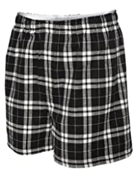 Boxercraft Men's Flannel Boxers with Covered Waistband