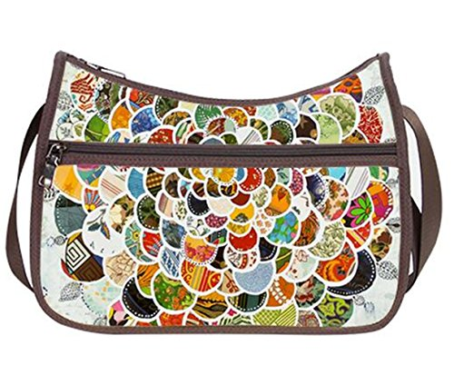 Fashion Ladies Girl Hobo Handbag Shoulder Bags with Aztec Pattern Print