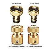 Werleo Garden Hose Coupling Quick Connector Water Hose Fitting...