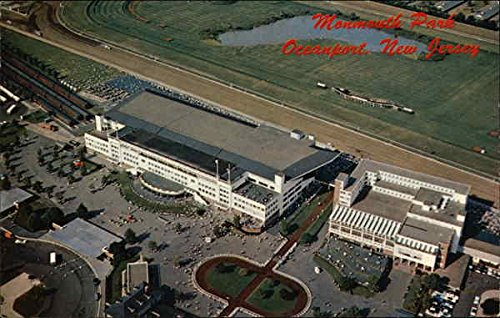 - Aerial View of the Monmouth Park Jockey Club Oceanport, New Jersey Original Vintage Postcard