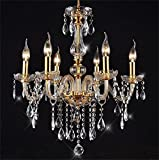 Crystal Chandeliers - HomeLava Retro 6 Lights Crystal Feature Ceil