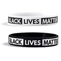 Chutoral BLACK LIVES MATTER Siliconen armband 2st Zwart en Wit
