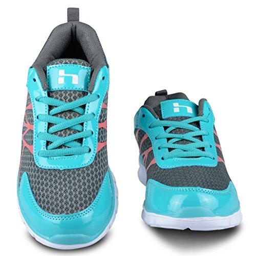 Achterwielen Raket Atletisch Gebreide Mesh Uitgevoerd Sneaker Turquoise