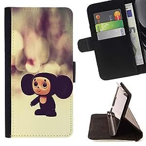 Momo Phone Case / Flip Funda de Cuero Case Cover - Rusia personaje de dibujos animados juguete grande Orejas 3D - Sony Xperia Z2 D6502