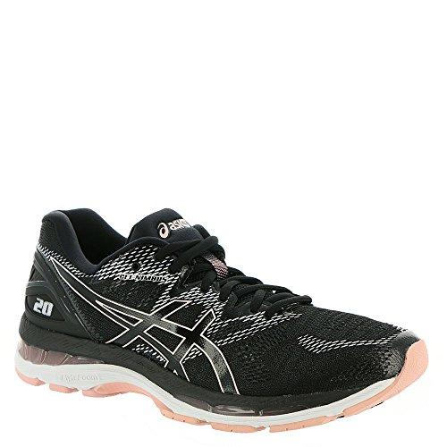 ASICS Gel-Nimbus 20 Women's Running Shoe, Black/Frosted Rose, 8 M US