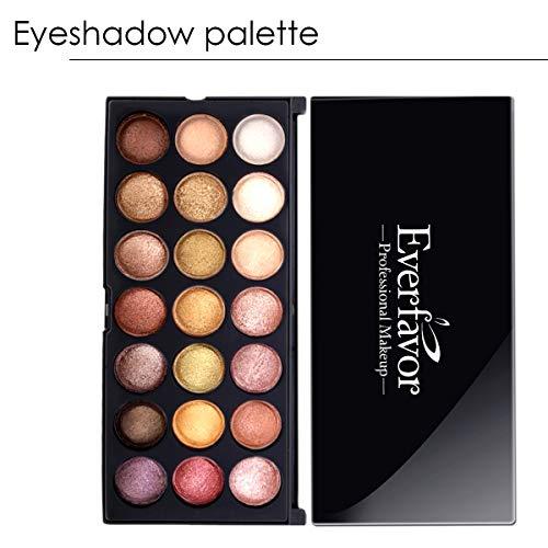 Everfavor Professional 21 Color Makeup Palette, High Pigmented Eye Shadow Palettes Shimmer Baked Eyeshadow Palette Colorful Eye Shadows (21 colors, 09)