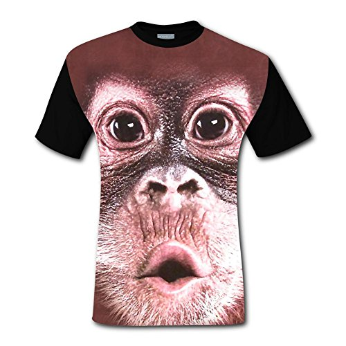 - plse Men 3D Printed Big Face Baby Orangutan Fathers Day Short Sleeve T-Shirt Tee