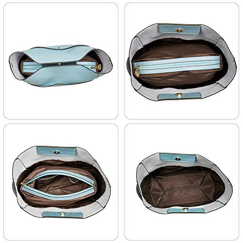 BOSTANTEN Women's Leather Designer Handbags Tote Purses Shoulder Bucket Bags 5