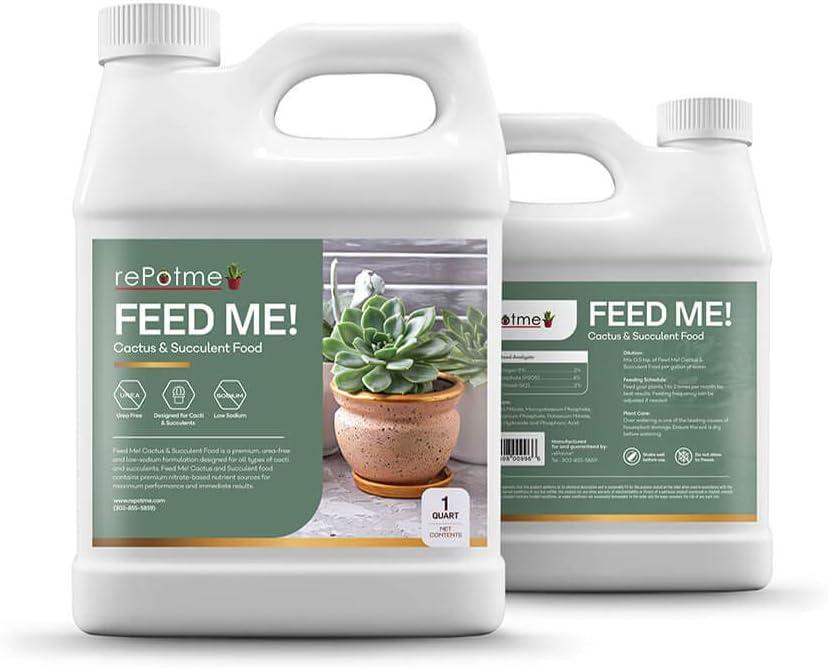 rePotme Cactus and Succulent Food - Feed ME! Fertilizer (32 oz)