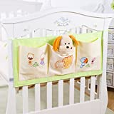 Baby Cot Tidy Organiser,Feicuan Baby Bed Pouch Hanging Storage Diapers Toys Cots Crib Organizer