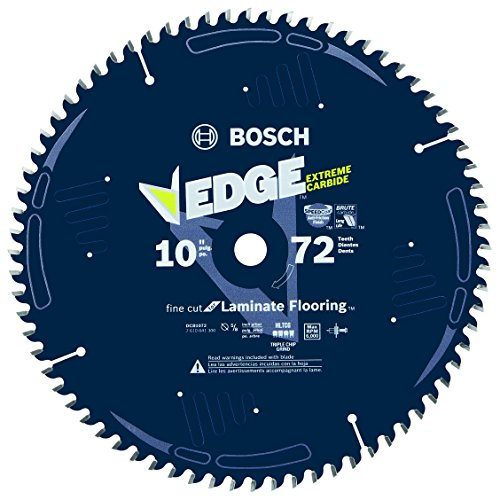 Bosch DCB1072 Daredevil 10-Inch 72-Tooth Laminate Flooring, Laminated Panels and Melamine Circular Saw (Panel Saw Accessories)