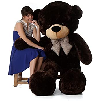 6 Foot Life-size Teddy Bear Rich Chocolate Brown Cuddly Stuffed Toy Bear Brownie Cuddles