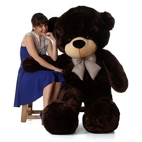 6 Foot Life-size Teddy Bear Rich Chocolate Brown Cuddly Stuffed Toy Bear Brownie Cuddles (Teddy Bear Chocolate)