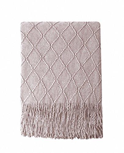 Amazon.com: Suave manta para sofá decorativa, manta ...