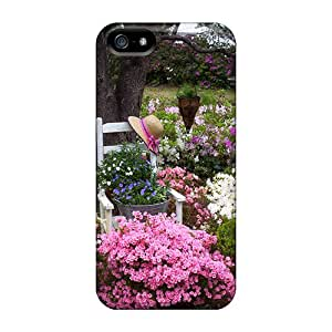 New Tpu Hard Case Premium Iphone 5/5s Skin Case Cover(flowers In The Garden)