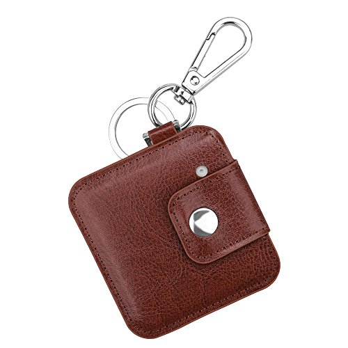 Fintie Tile Slim Case with Carabiner Keychain, Anti-scratch PU Leather Protective Skin Cover for Tile Slim Phone Finder Item Tracker, Brown