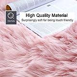 junovo Premium Soft Round Faux Fur Sheepskin Seat