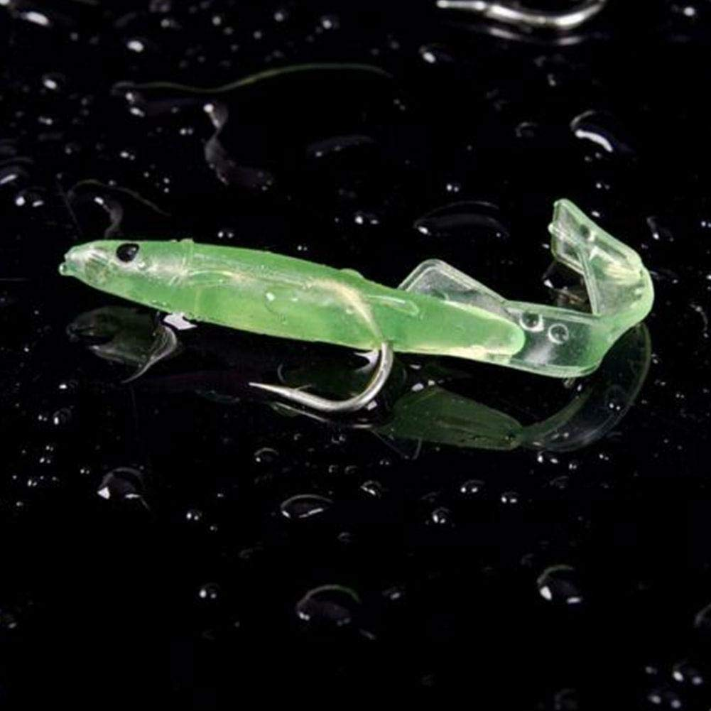 JOAN DOMINGUEZ 10Pcs//Packet Soft Bait Luminous Hook Small Squid Into The Lure