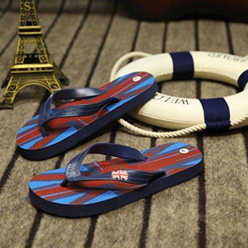 Sunfei ® Rice flag Flip-flops Slippers Beach Sandals Summer Home Slippers Blue JKfJpA1