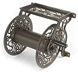 Liberty Garden 704 Decorative Cast Aluminum Wall Mount Garden Hose Reel, Holds 125-Feet of 5/8-Inch...
