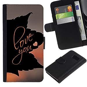 All Phone Most Case / Oferta Especial Cáscara Funda de cuero Monedero Cubierta de proteccion Caso / Wallet Case for Samsung Galaxy S6 // LOVE YOU LEAF