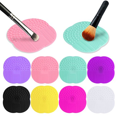 1 PC 8 Colors Silicone Cleaning Cosmetic Make Up Washing Brush Gel Cleaner Scrubber Tool Foundation Makeup Cleaning Mat Pad Tool (Hose Candy Master Kit)