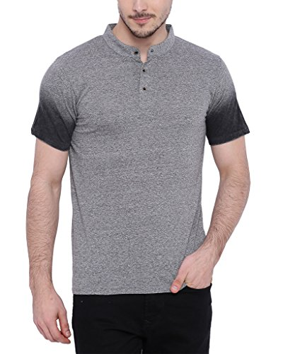 Campus Sutra Men's Mandarin Collar T-shirt