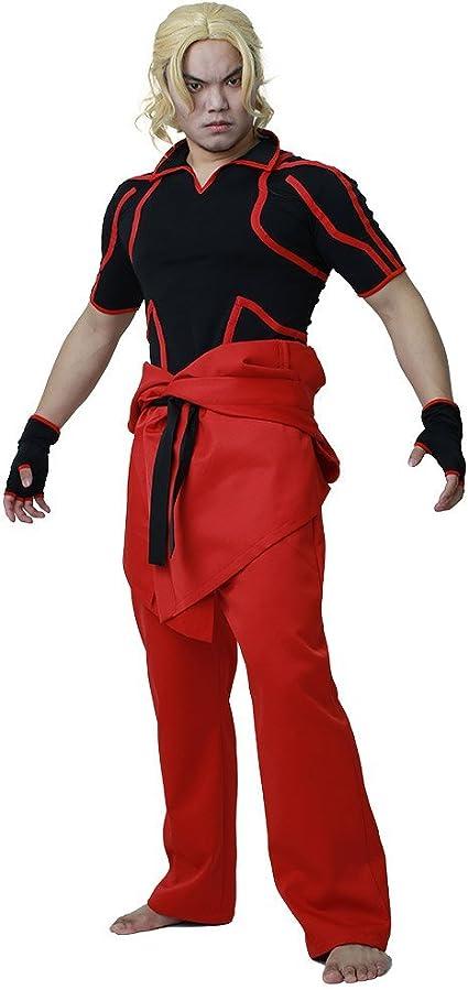 Miccostumes Men S Street Fighter V Ken Masters Cosplay Costume Men L Amazon Ca Clothing Accessories