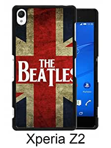 Sony Xperia Z2 case,Unique Design The Beatles UK Flag Black cell phone case for Sony Xperia Z2