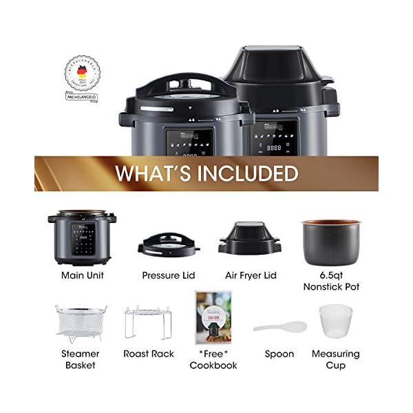 MICHELANGELO 6 QT Pressure Cooker Air Fryer Combo, All-in-1 Pressure Cooker with Air Fryer - Two Detachable Lids for… 5