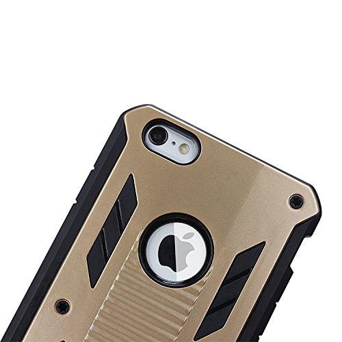 ubsma-2en 1Combo robuste Double Couche [Coque résistante aux chocs] Robot Impact Advanced Armor antidérapant détachable hybride en silicone souple Coque rigide à clipser pour Apple iPhone 6