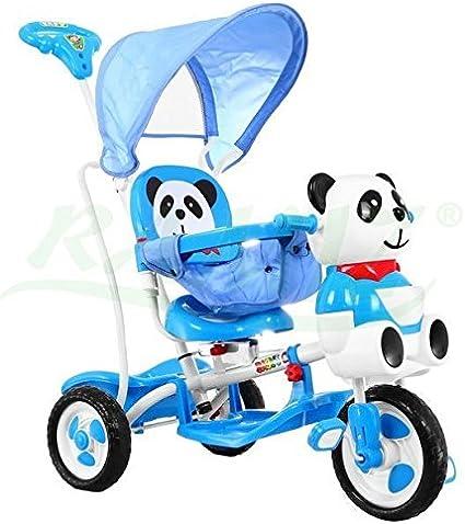 Triciclo - Mecedora infantil 2 In 1 Panda Triciclo Musical - Azul